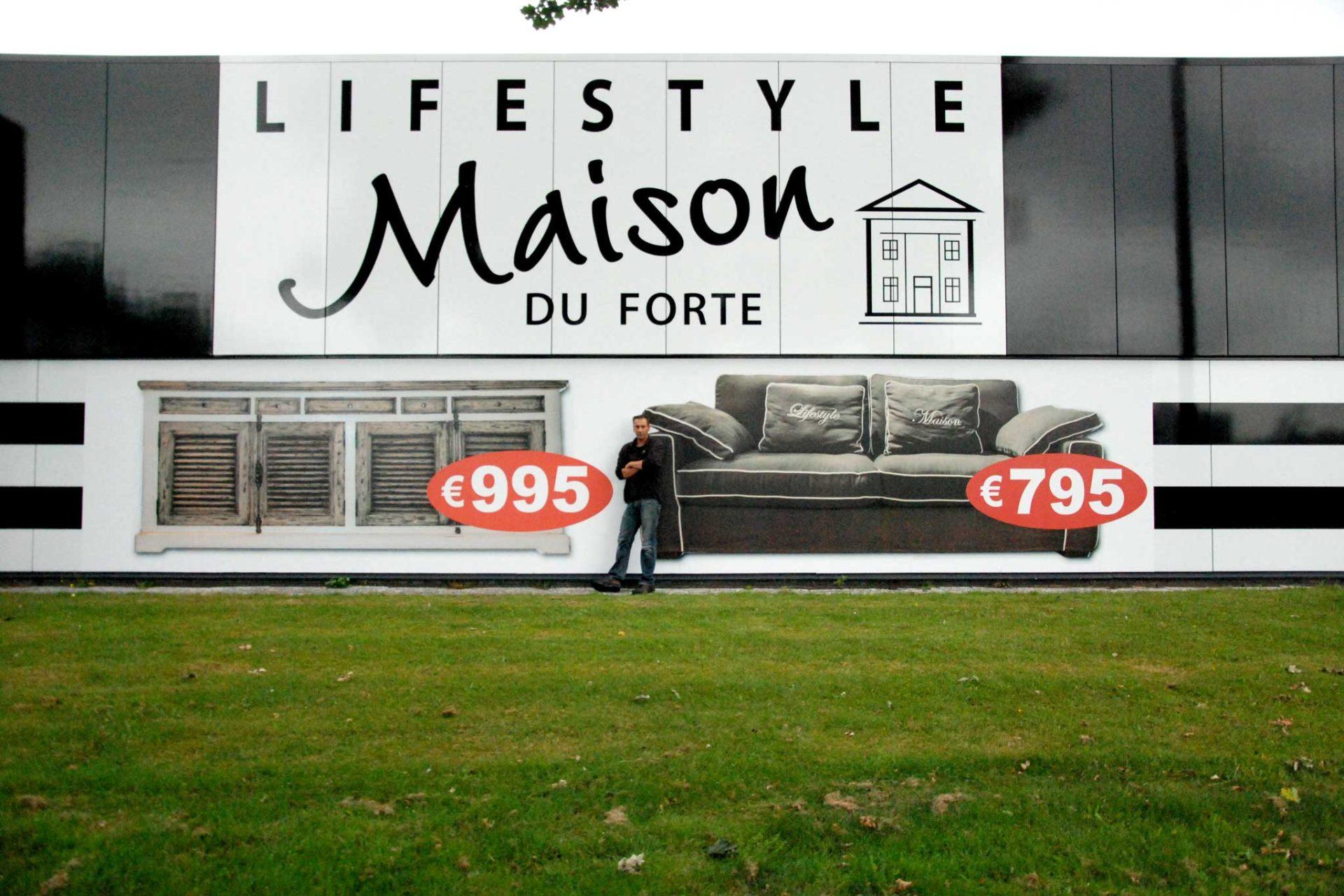 Gevelreclame - Lifestyle Maison Du Forte
