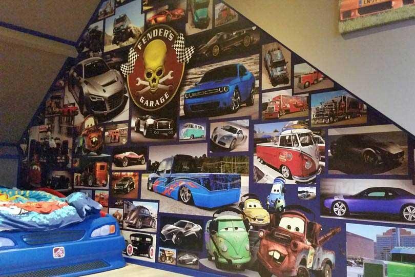 Wall wrap - Auto motief