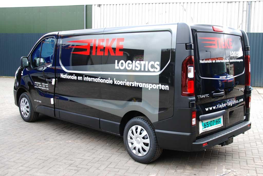 Bedrijfsbus reclame - Tieke Logistics