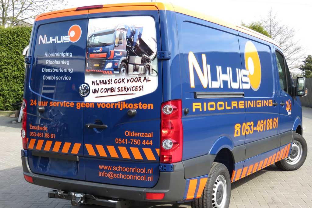 Bedrijfsbus reclame - Nijhuis Rioolreiniging