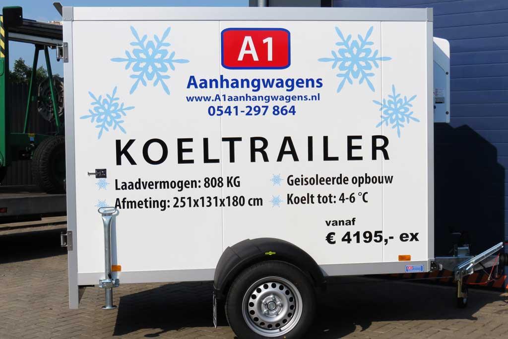 Aanhangwagen reclame - A1 Aanhangwagens
