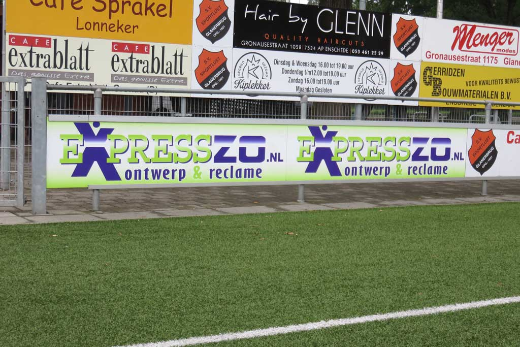 Reclame bord voetbalveld - ExpressZO