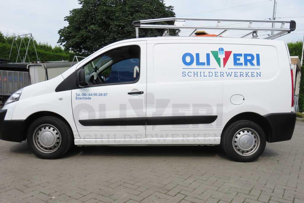 Bedrijfsbusje reclame - Oliveri Schilderwerken