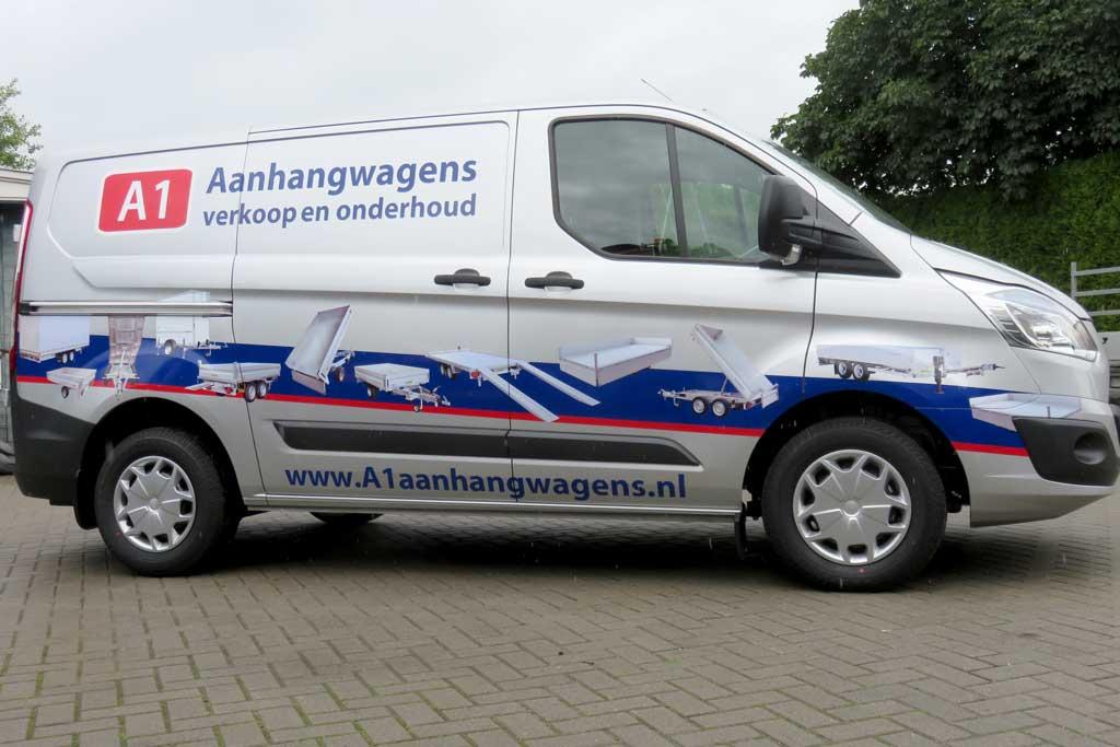 Bedrijfsbus reclame - A1 aanhangwagens