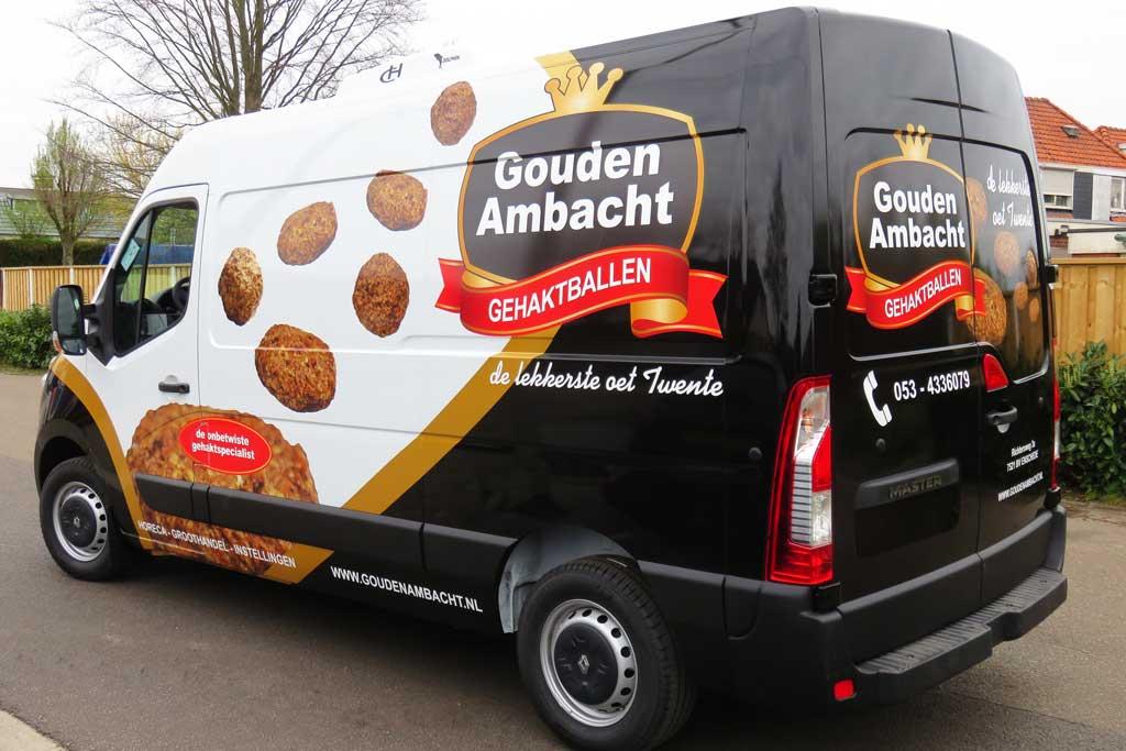Bedrijfsbus reclame - Gouden Ambacht Gehaktballen