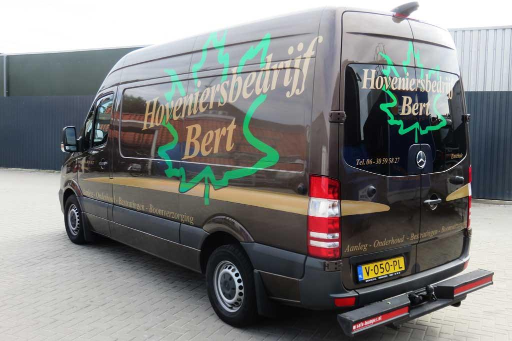 Bedrijfsbus reclame - Hoveniersbedrijf Bert