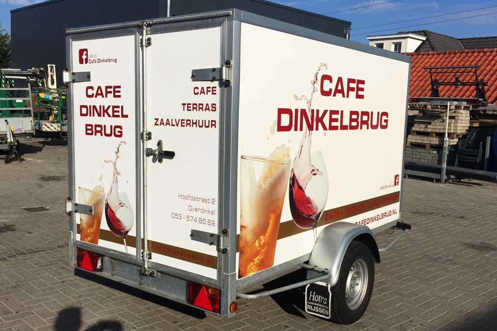 Aanhangwagen reclame - Cafe Dinkelbrug